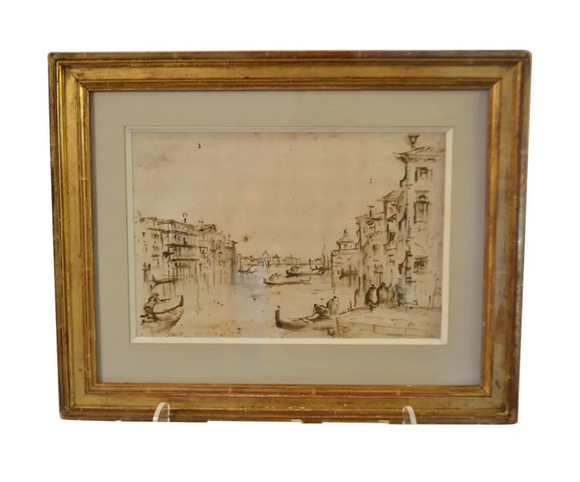 Framed Drawing (Venice)