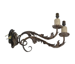Italian,Pair of 18th C.  Wrought Iron Wall Sconces