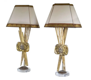 Pair Of Italian 18th C. Giltwood Lamps
