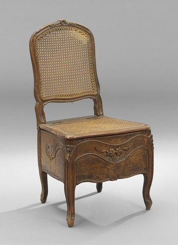 Provincial Louis XV Fruitwood Commode Chair