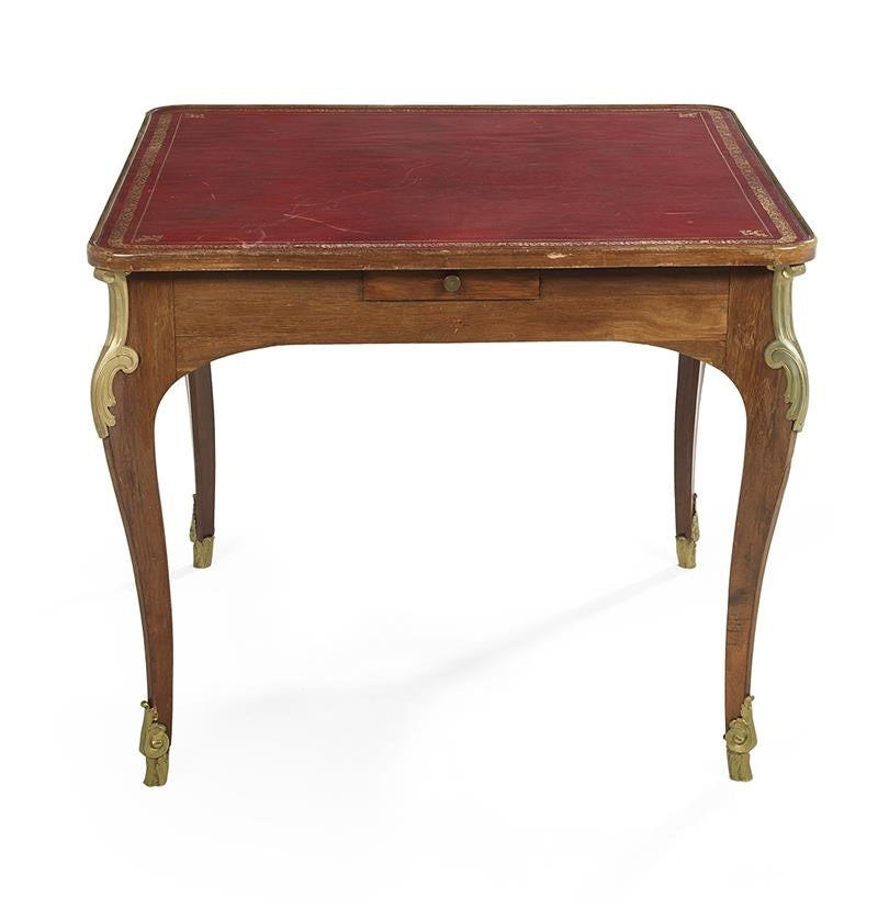 Louis XV-Style Fruitwood Games Table