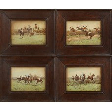 A  Set of 4 Steeplechase prints by Thomas Blinks