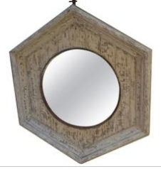 Antique French Pentagonal Signal Mirror