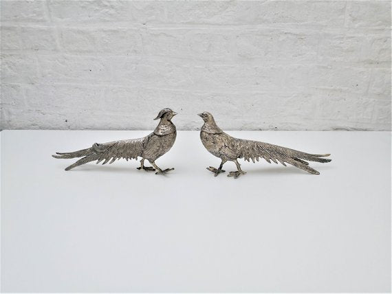 Vintage French metal birds