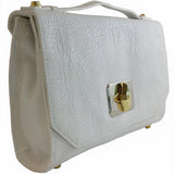Treesje Harlow White Leather Crossbody Angle