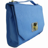 Treesje Harlow Belize Blue Leather Crossbody Angle
