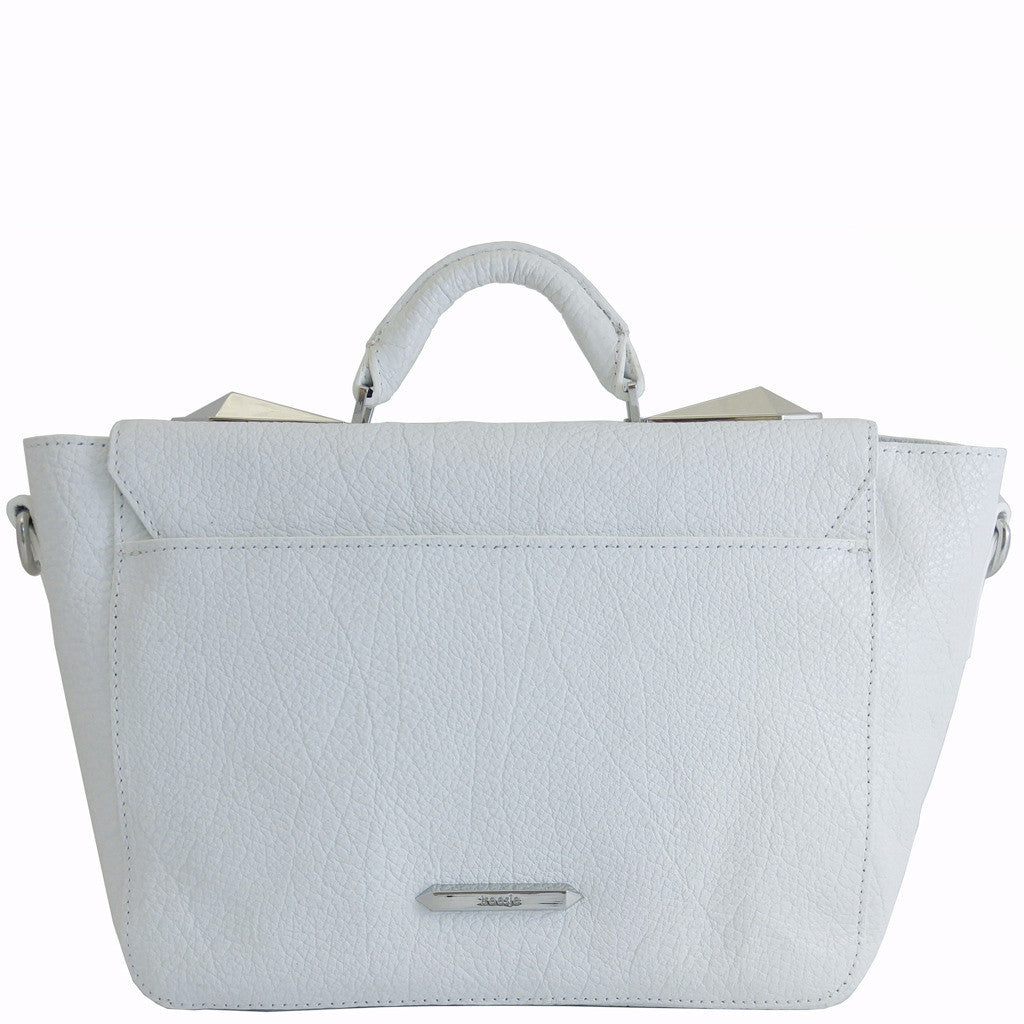 Treesje Clara White Leather Satchel Back