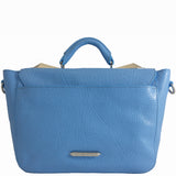Treesje Clara Belize Blue Leather Satchel Back
