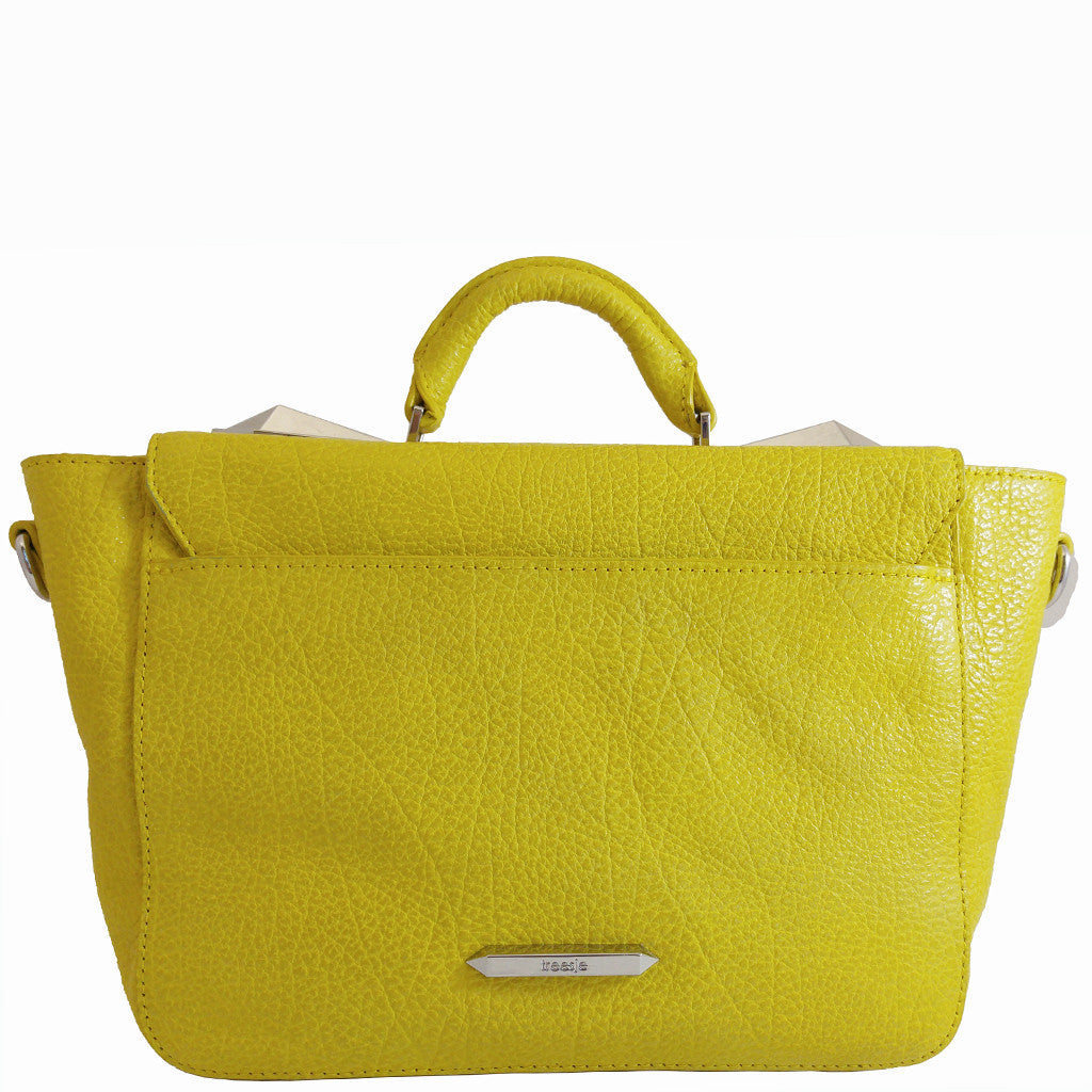 Treesje Clara Sunshine Leather Satchel Back
