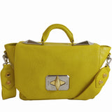 Treesje Clara Sunshine Leather Satchel Front