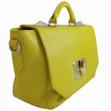 Treesje Clara Sunshine Leather Satchel Angle