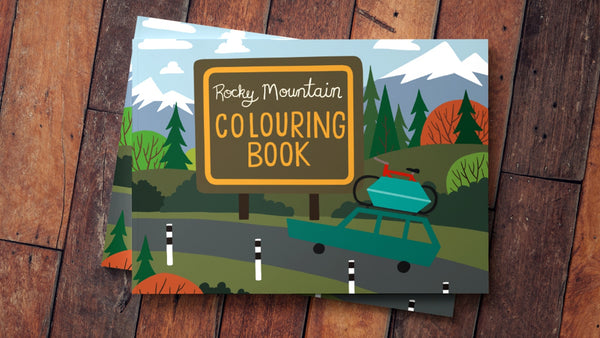 Jason Blower - Rocky Mountain Colouring Book