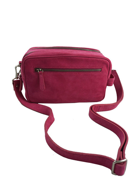 Malorie Urbanovitch 'Pink' Two Zip Bag