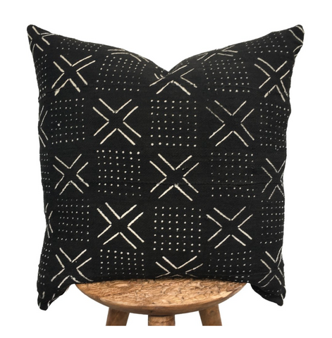 African Black Mudcloth- Pillow
