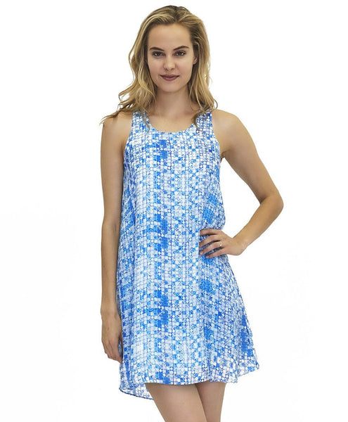 Abby Cupro Dress in Charm Print