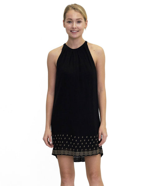 Alexandra Beaded Cotton Dress Twilight