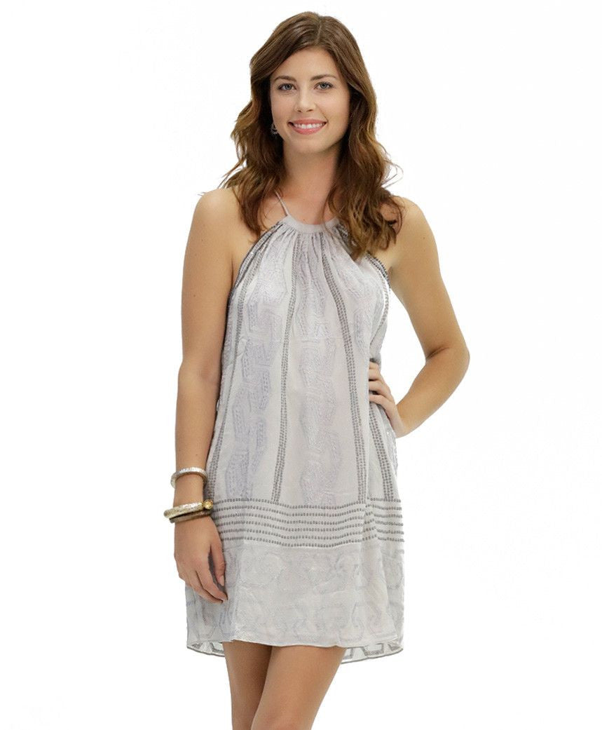 Bailey Embroidered Cotton Dress in Nadia