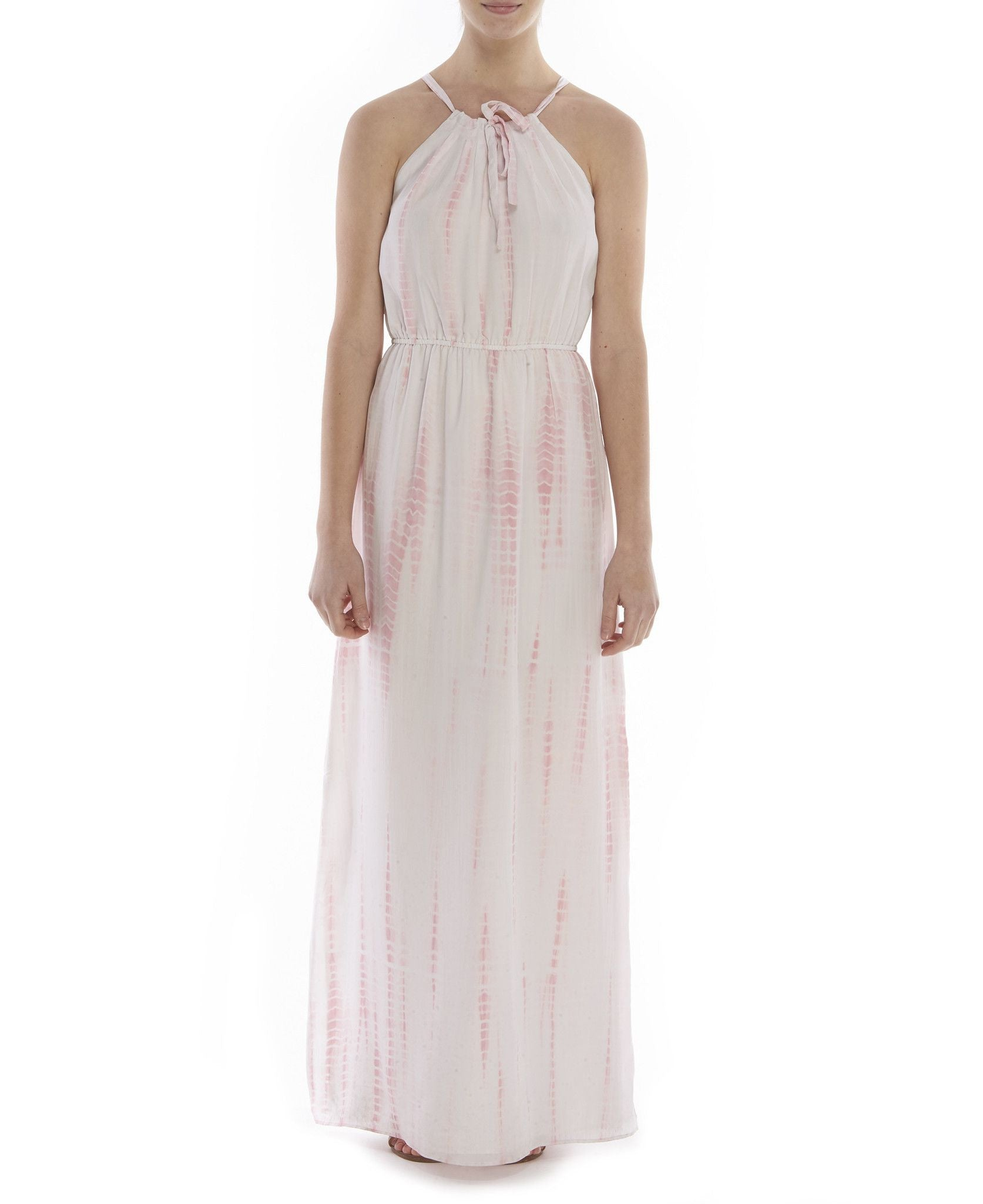 D334 FAYE CDC TIE FRONT MAXI DRESS COTTON CANDY