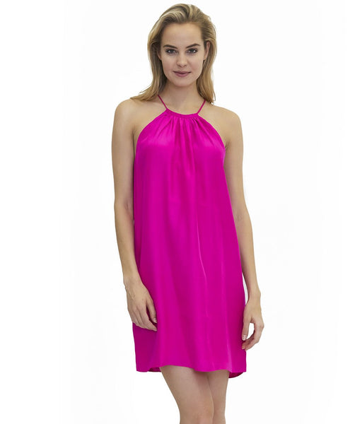 Bailey Silk Dress in Fuchsia