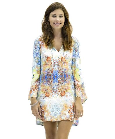 Selena Silk Dress in Tanja Print