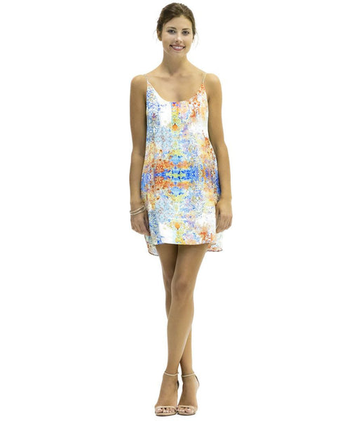 Emma Cupro Satin Dress in Tanja Print