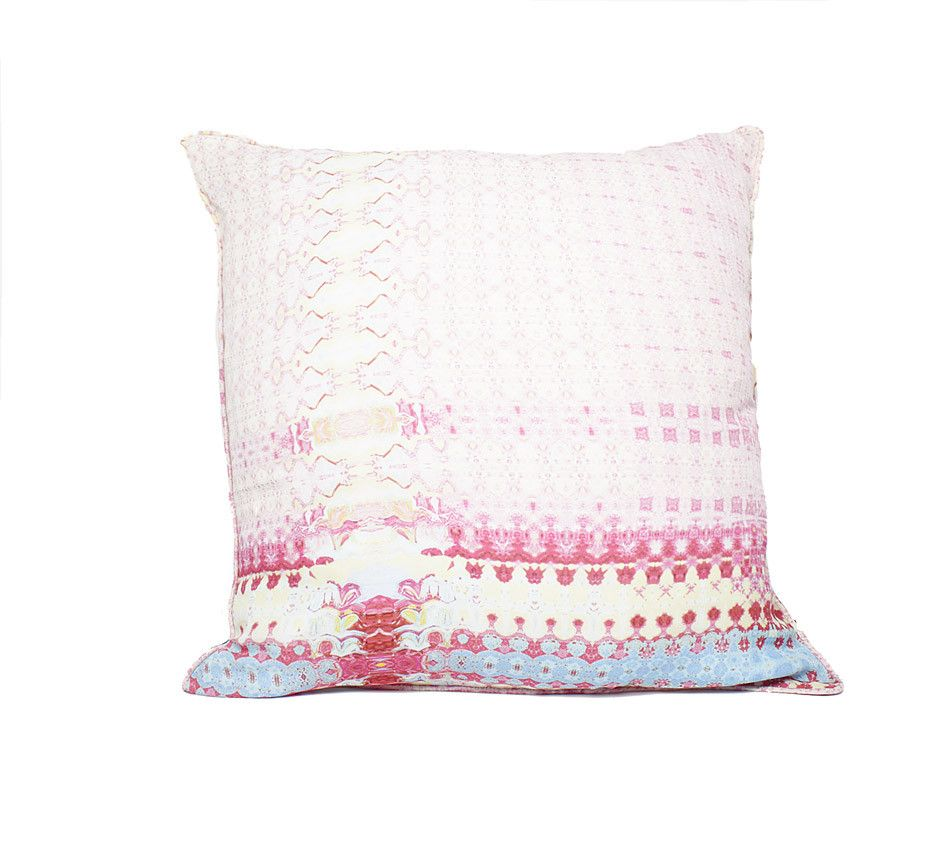 Tangerine NYC women's silk pillow and pillow case in pink print best seller