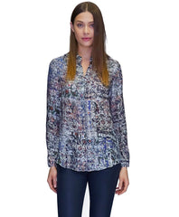 Madison Cupro Button Down in Eternal Print