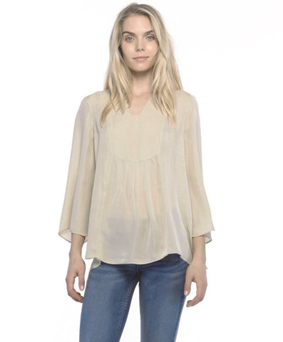Shelly Silk Top Safari