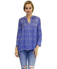 Avery Cupro Blouse in Sail Print