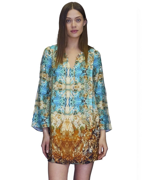 Selena Silk Dress Lyon Print