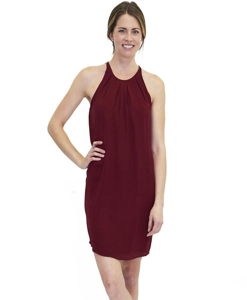 Sophia Silk Dress Merlot