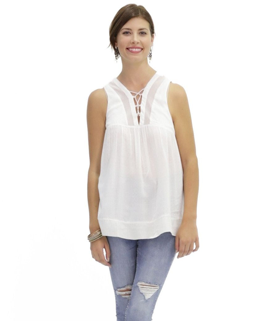 Rayne Top in White Sand