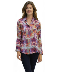 Madison Silk Top in Bazaar Print