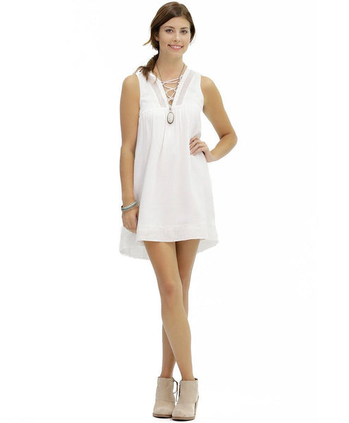Karina Cotton Dress in White Sand