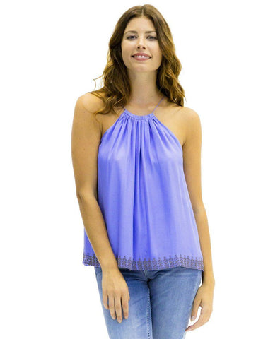 Ally Silk Tank Top in Potion