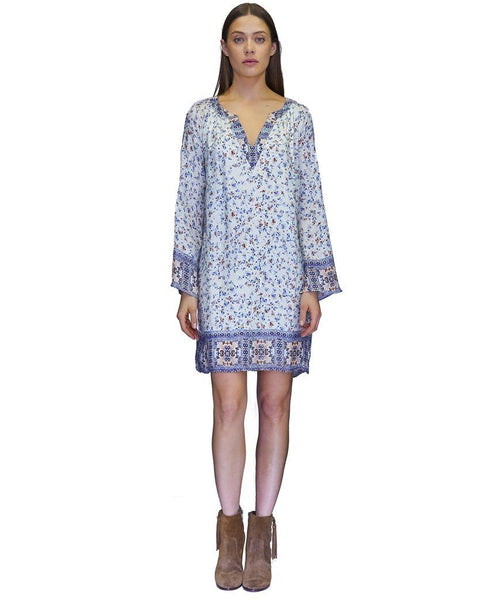 Karen Cupro Dress in Fall Flowers Print