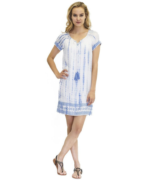 Anna Belle Cupro Dress in Island Tie Dye
