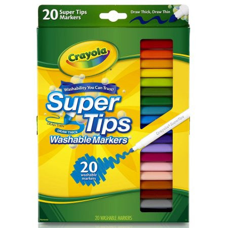 20 Ct Super Tips Washable Markers