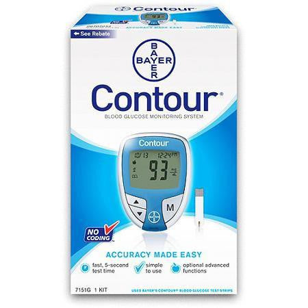 Bayer Ascensia Contour Glucose Meter - Affordable OTC