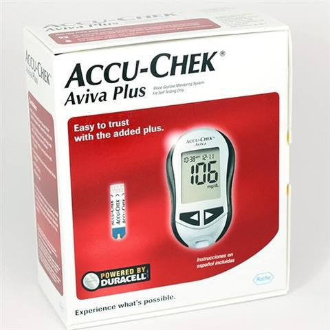 Accu Chek Aviva Plus Glucose Meter - Affordable OTC