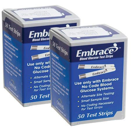 Embrace Glucose Test Strips 100ct
