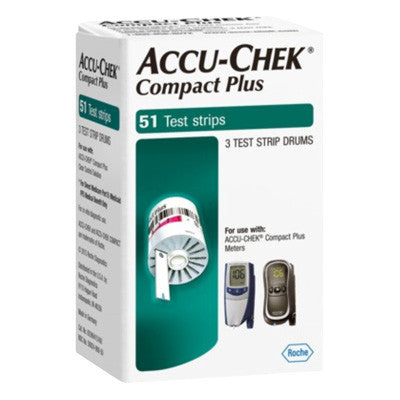 Accu Chek Compact Plus 51 Count - Retail Boxes - Affordable OTC