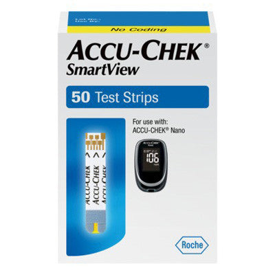 Accu-Chek SmartView 50 Diabetic Test Strips - Retail Box - Affordable OTC