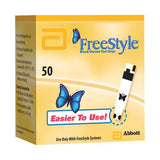 Freestyle Blood Glucose Test Strips 50 Count 1+Year - Affordable OTC
