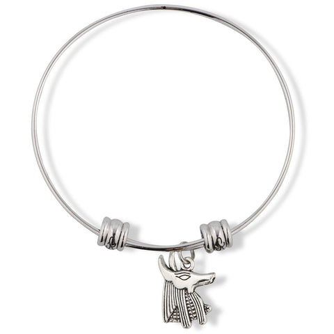 Anubis Dog Egyptian God Fancy Charm Bangle