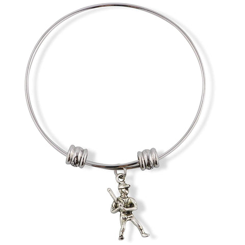 Baseball Player Ready to Swing Bat Fancy Charm Bangle