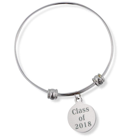 Class of 2018 Graduation Fancy Charm Bangle