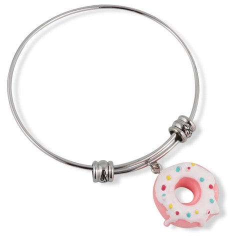 Donut ( Pink with White Icing and sprinkles) Fancy Bangle