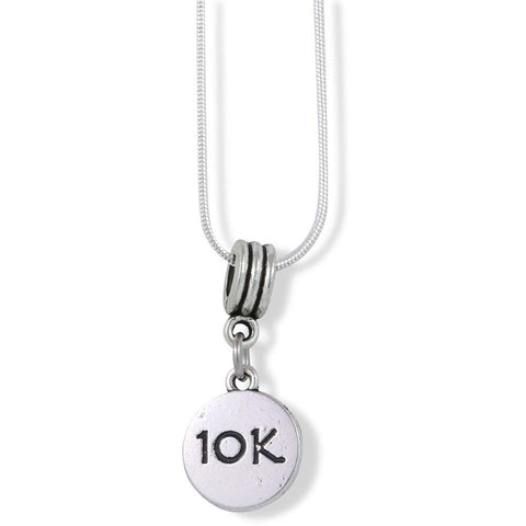 10k Running Charm Snake Chain Necklace