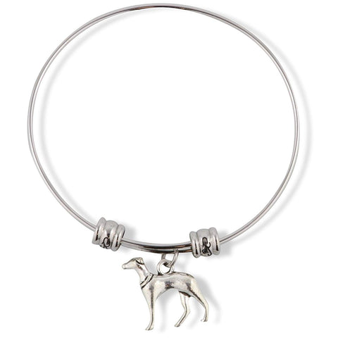 Greyhound Dog Animal Fancy Charm Bangle